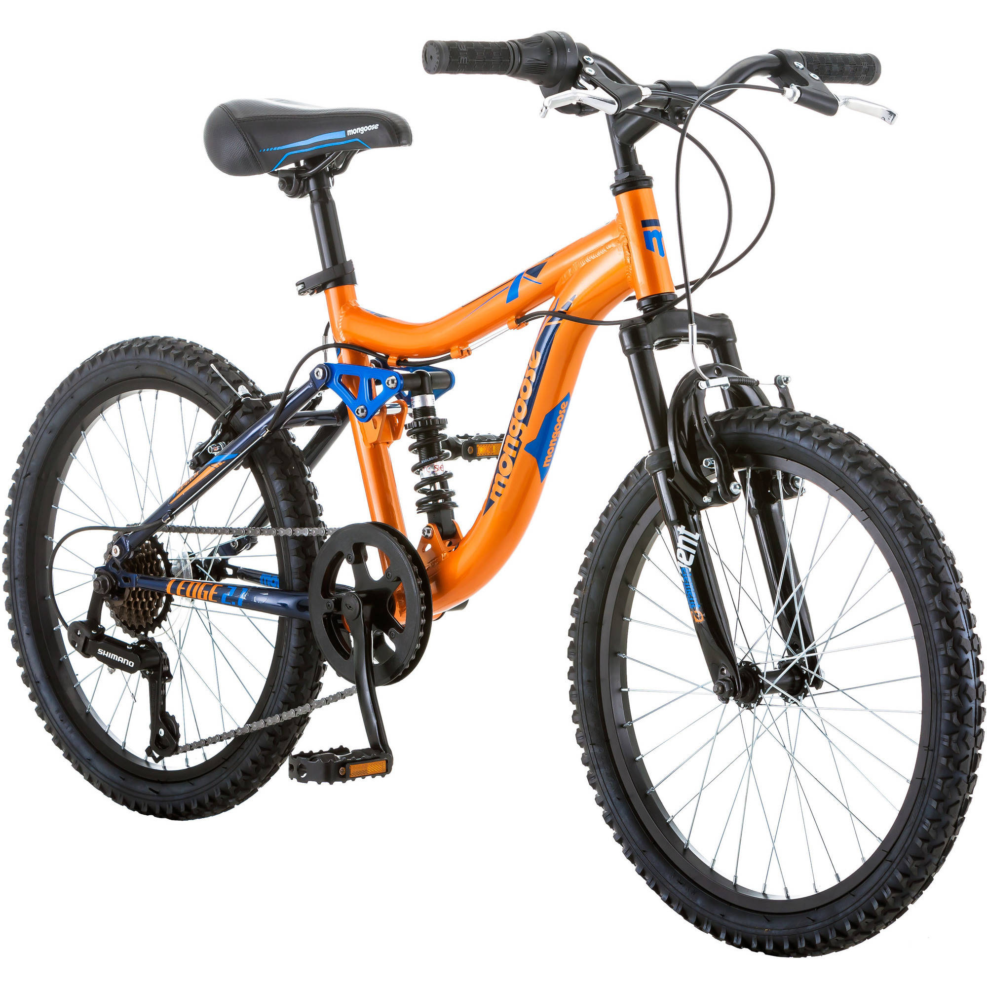 "20"" Mongoose Ledge 2.1 Boys' Mountain Bike, Orange/Blue"