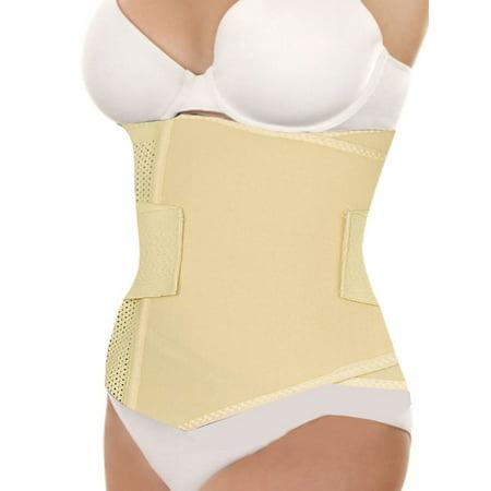 Waist Clincher (Unique Bargains Women's Corset Girdle Shapewear Tummy Waist Clincher Band Beige (Size)