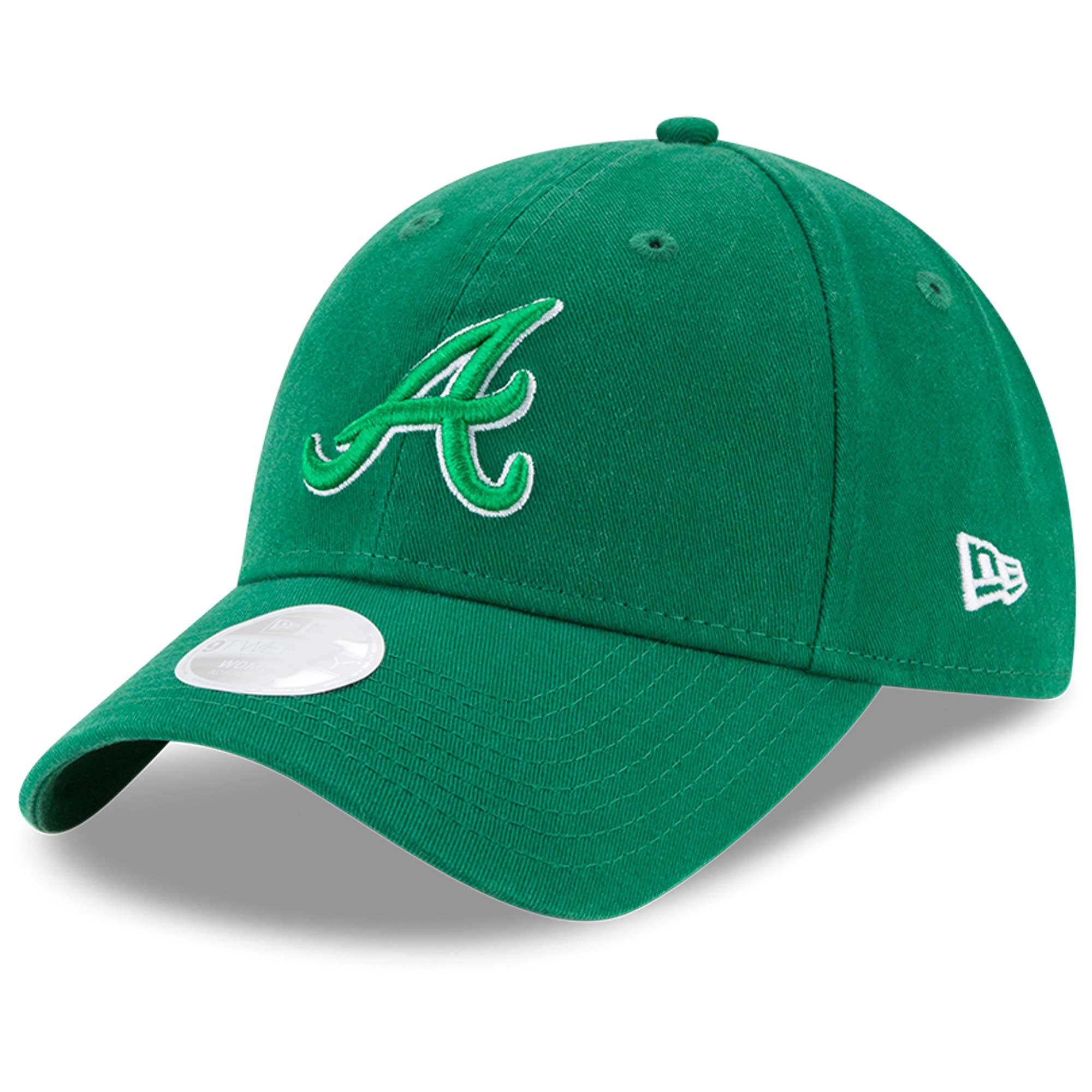 Atlanta Braves New Era Women's Core Classic Twill St. Patrick's Day 9TWENTY Adjustable Hat - Green - OSFA