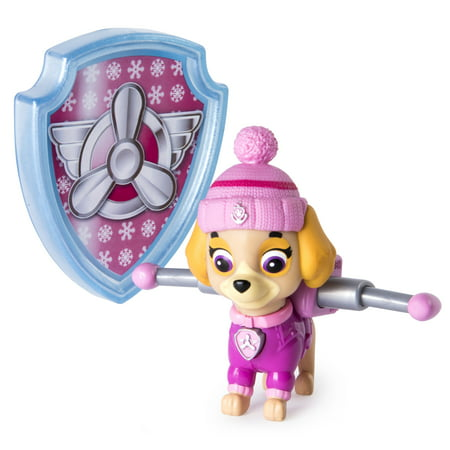 Paw Patrol Snow Rescue Skye With Transforming Pup Pack And Badge Walmart Exclusive