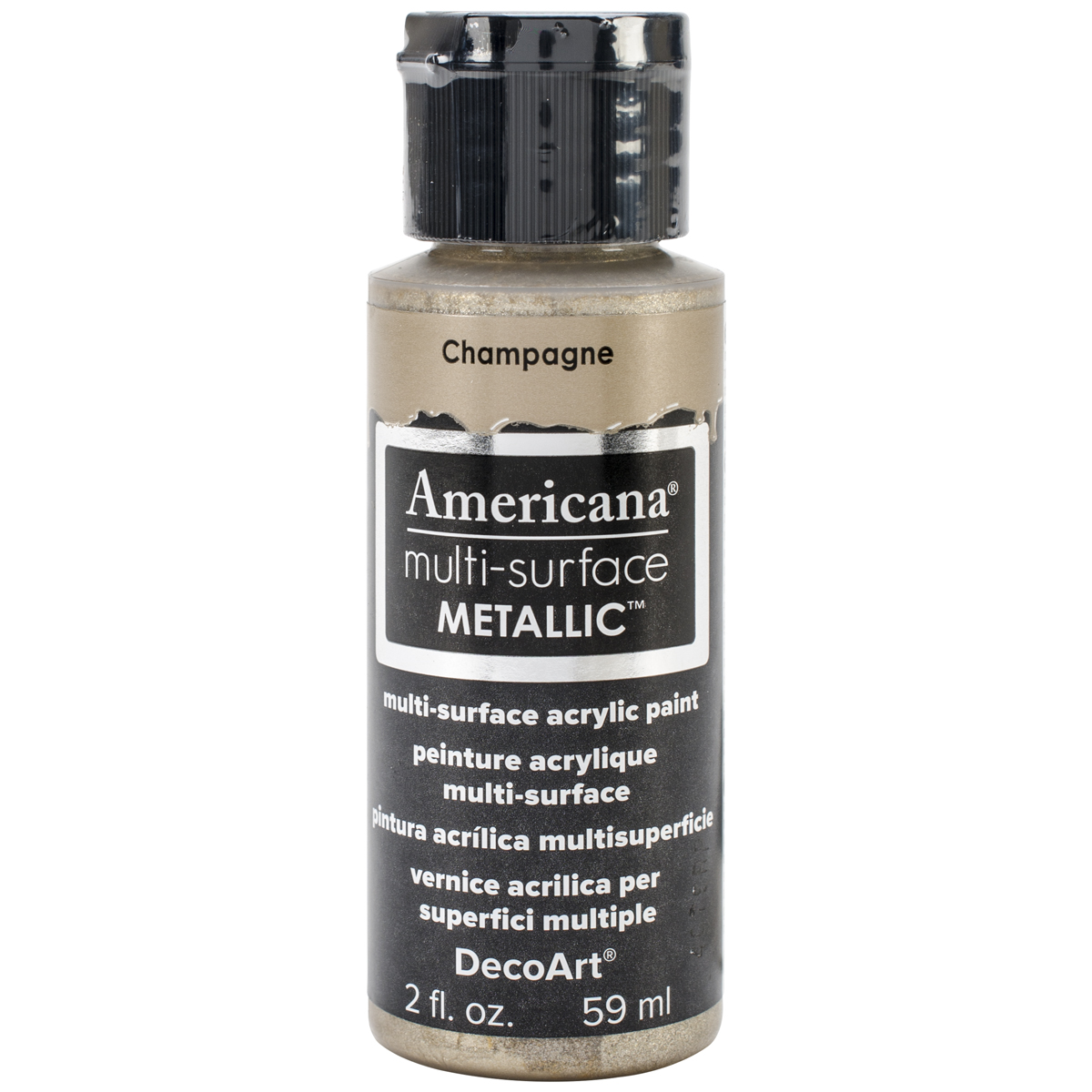 Americana Multi-Surface Metallic Acrylic Paint 2oz-Champagne