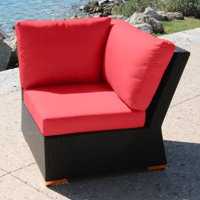 Bellini Home and Gardens Teana Wicker Patio Sectional Corner Chair