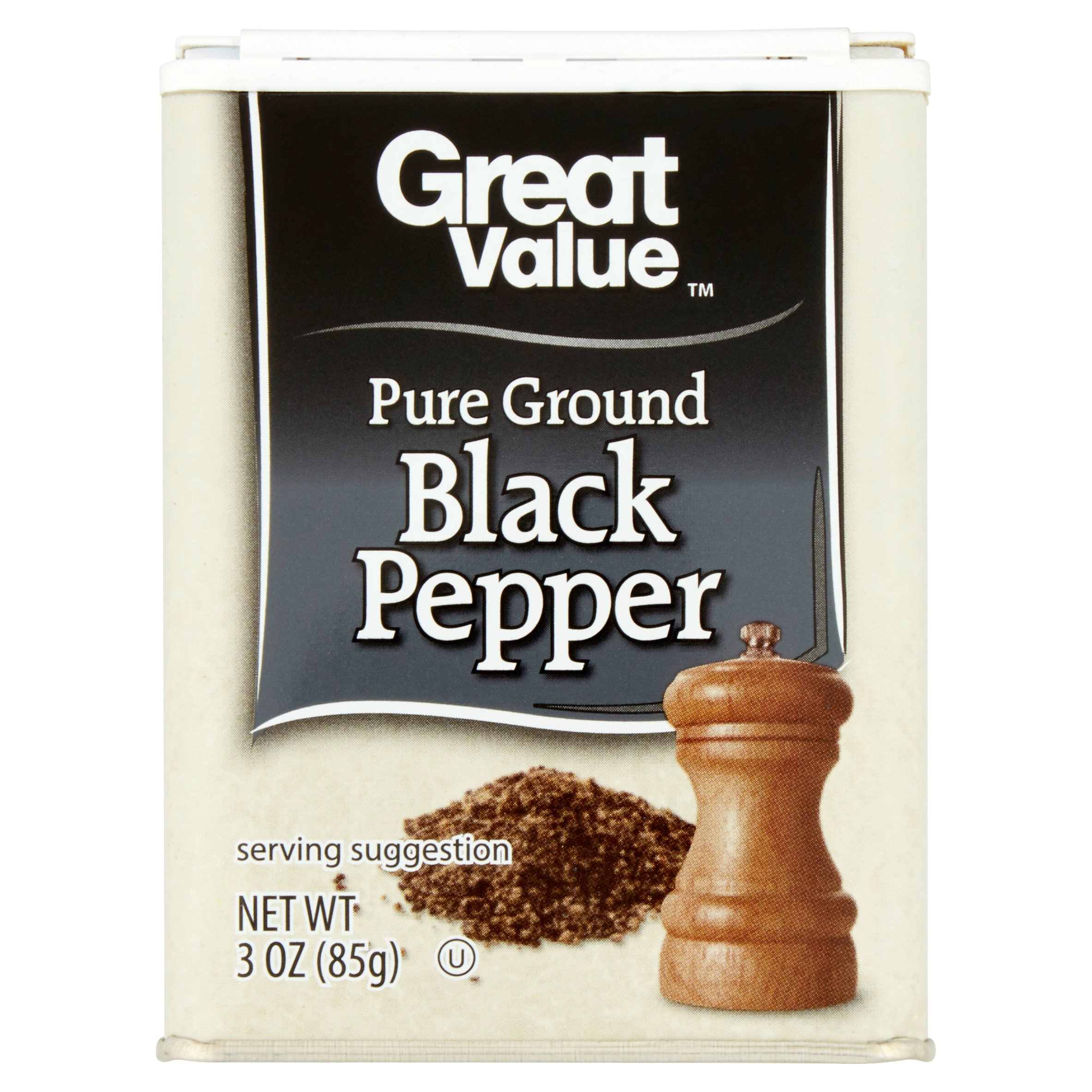 (2 Pack) Great Value Pure Ground Black Pepper, 3 oz