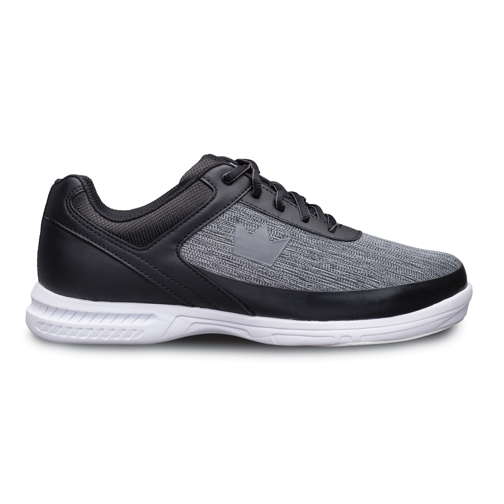Brunswick Mens Frenzy Static Bowling Shoes- WideBlack/Grey 10 M US