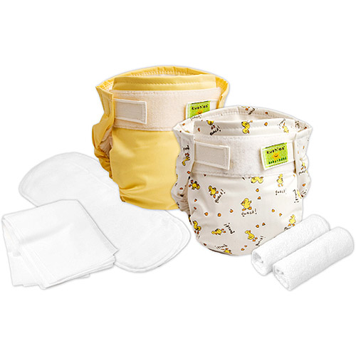 Kushies Trial Pack Reusable Ultra Diapers for Infants, Co...