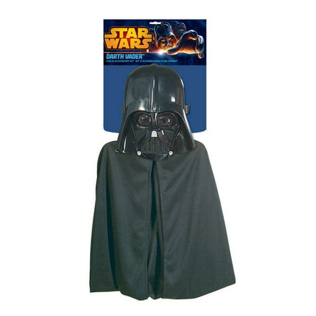 Darth Vader Costume Accessories (Star Wars Darth Vader Cape/Mask Halloween Costume Accessory)