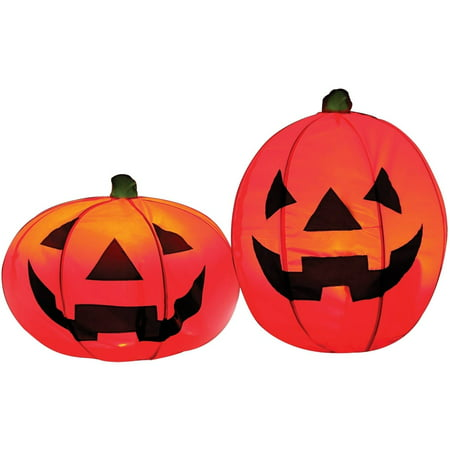 Light-up Pumpkin Set of 2 Halloween Decoration](Halloween Outdoor Decorations)