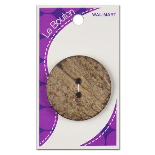 Le Bouton 2-Hole Button, Brown Coconut