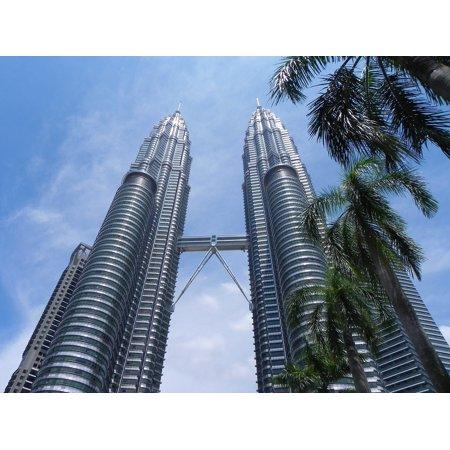 Framed Art for Your Wall Petronas Twin Towers Kuala Mal Lumpur Malaysia 10x13 Frame ()