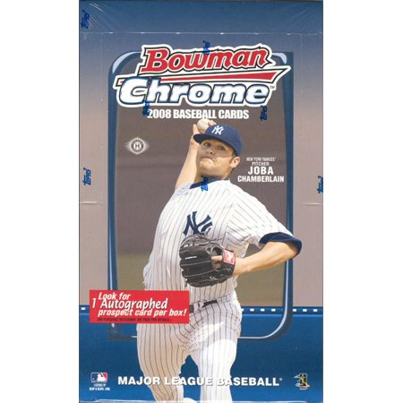 - 2008 Bowman Chrome Baseball Hobby Box (18 Packs of 4 Cards: 1 Autograph, 6 Parallels, 36 Chrome Prospects)