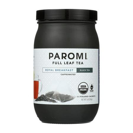 Organic Fair Trade Black Tea (Paromi Tea, Royal Breakfast, Organic and Fair Trade Black Tea, Full-Leaf, 15 Ct, 1.6 Oz)