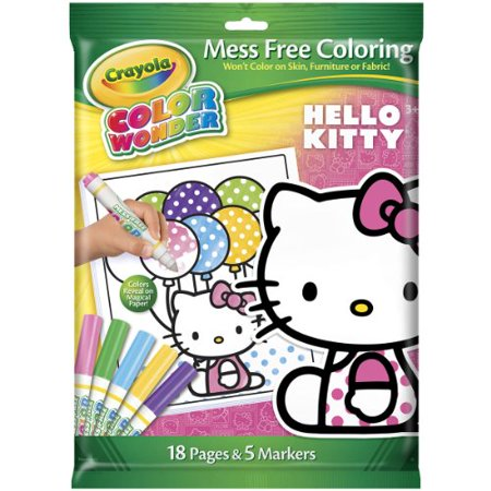 Crayola Color Wonder Hello Kitty Coloring Pad And 5 Count Marker, 18 Page](Crayola Wonder Markers)