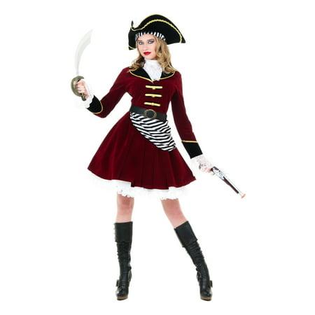 Women's Captain Hook Costume with Hat - Captain Hooks Hat