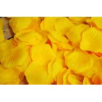 Yellow Silk Rose Petals Confetti for Weddings in Bulk