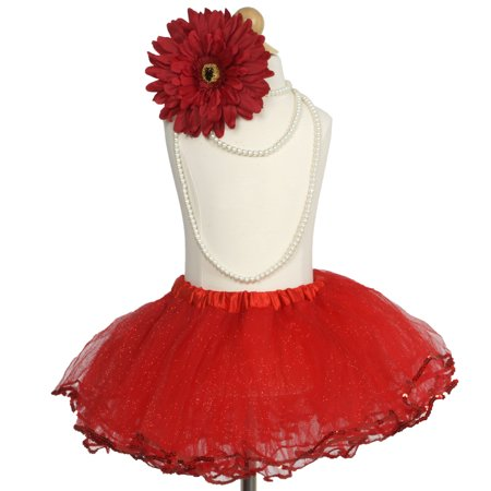 Efavormart 4 Layered Glitter Sequin Edged Girls Ballet Tutu Skirt for Dance Performance Events Wedding Party Banquet Event Skirt](Custom Tutu For Toddlers)