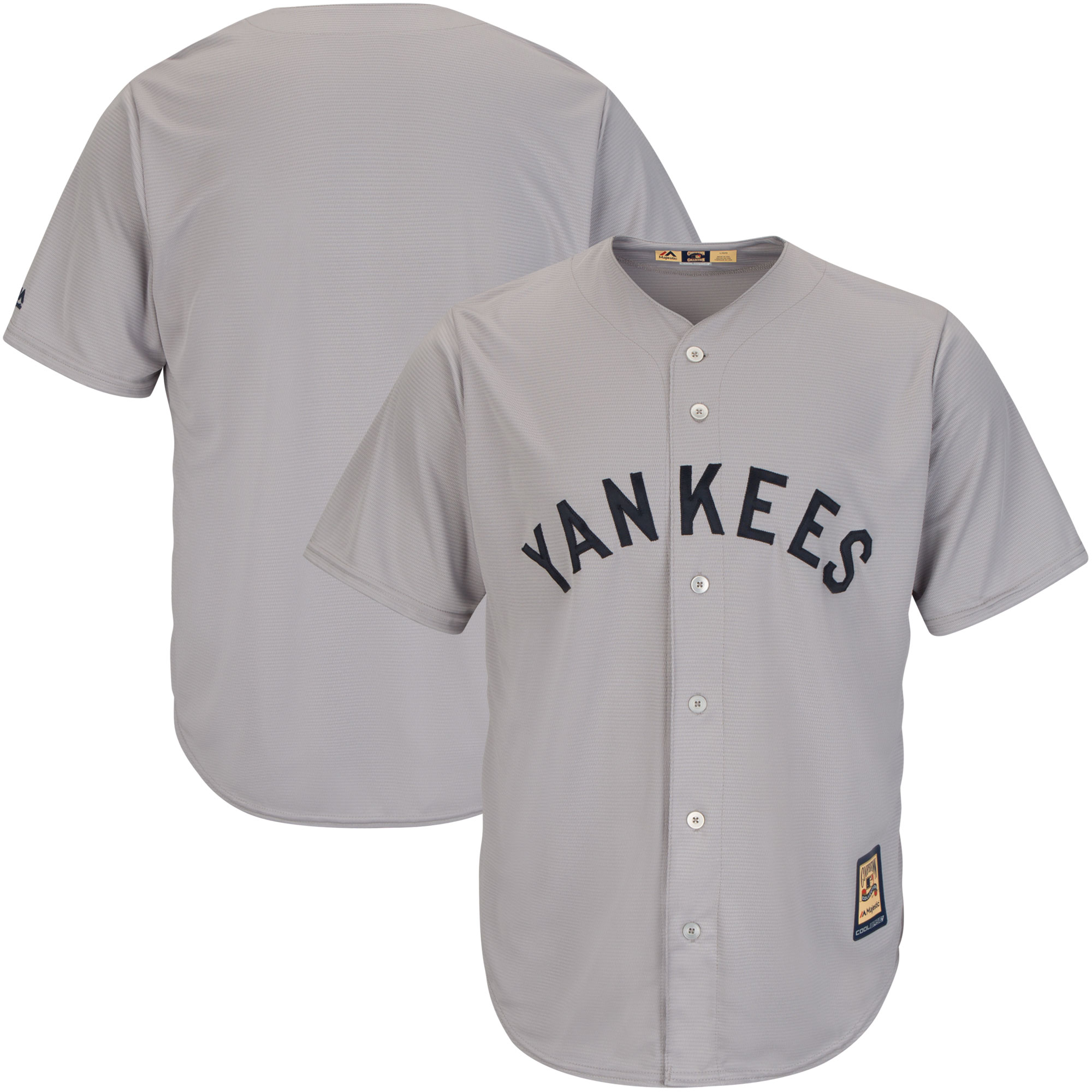 New York Yankees Majestic Big & Tall Cooperstown Cool Base Jersey - Gray