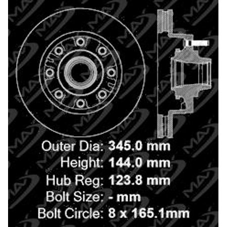 Max Brakes Front Premium OE Rotors and Ceramic Pads Brake Kit | KT117641-11 - image 5 de 8