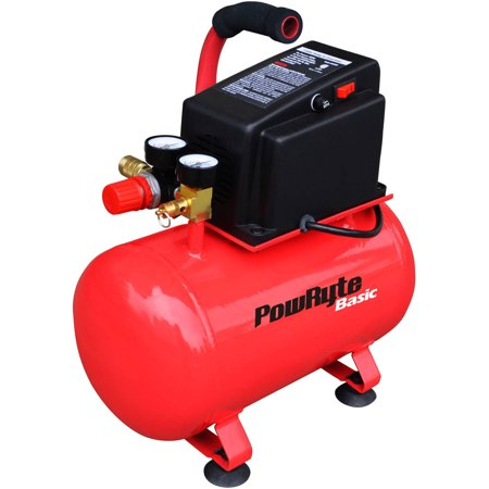 Powryte Basic 103331 3 Gallon Oil Free Hotdog Portable Air Compressor  100 Psi