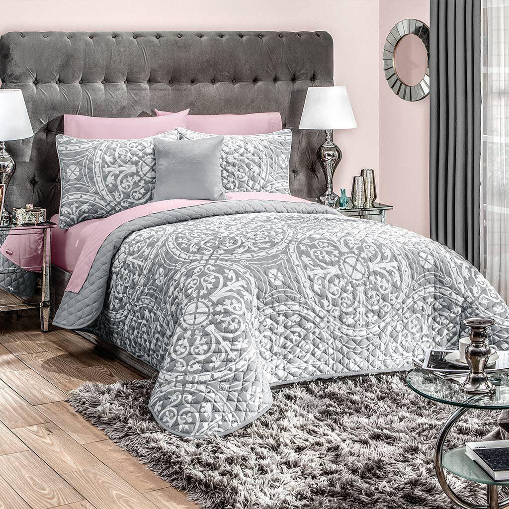 Griego Gray Full Contemporary 3 Piece Reversible Comforter Set By Intima Hogar Walmart Com Walmart Com