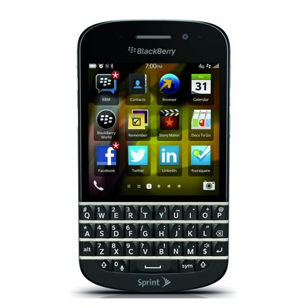 blackberry q10 sqn100 4 16gb sprint os 10 cell phone. Black Bedroom Furniture Sets. Home Design Ideas