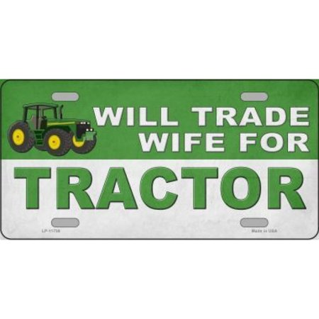Will Trade Wife For Tractor Metal License Plate Walmart Canada