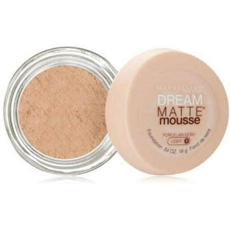 Matte Mousse Foundation (Maybelline Dream Matte Mousse Foundation, Porcelain Ivory Light [1], 0.64)