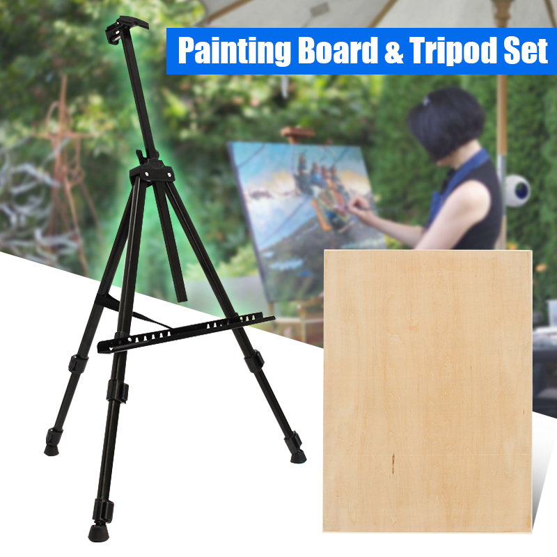 Folding Painting Easel / Painting Board Artist Telescopic Field Studio Tripod Display Stand