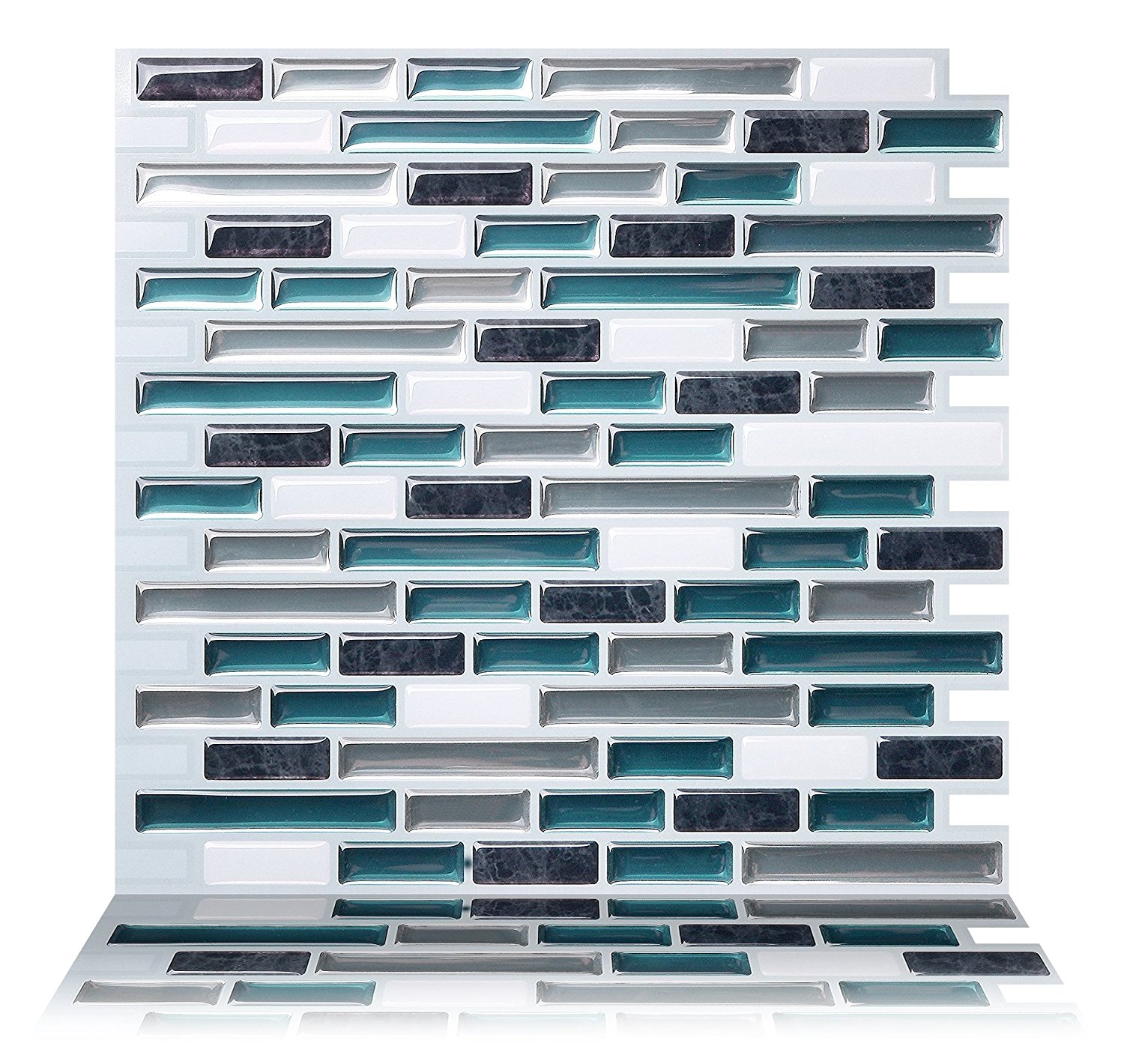 10 Tic Tac Tiles Mosaic Peel and Stick Wall Tile in Como White