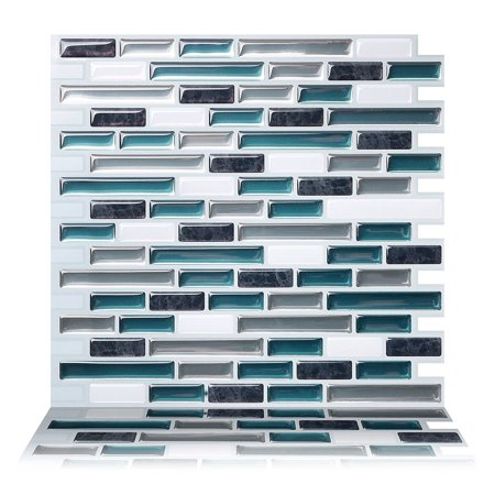 Tic Tac Tiles - Premium Anti Mold Peel and Stick Wall Tile Backsplash in Como Bay (1 Tile (Ceramic Tile Molds)