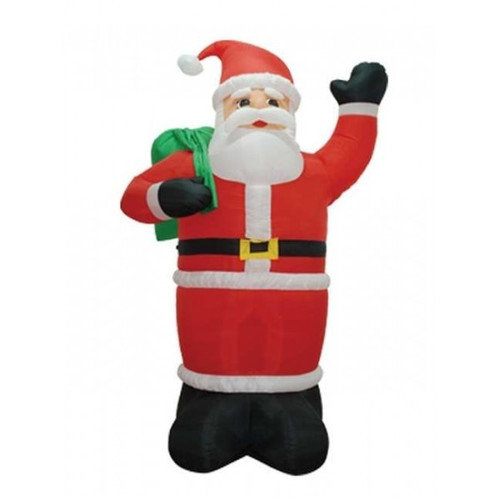 BZB Goods Christmas Inflatable Santa Claus Holding Gift Bag Decoration