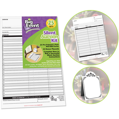 The Big Event Silent Auction Kit, 25-Pack