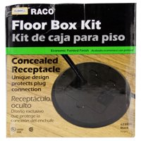 Hubbell Raco 6239BP Brass Plated Concealed Receptacle Floor Box Kit