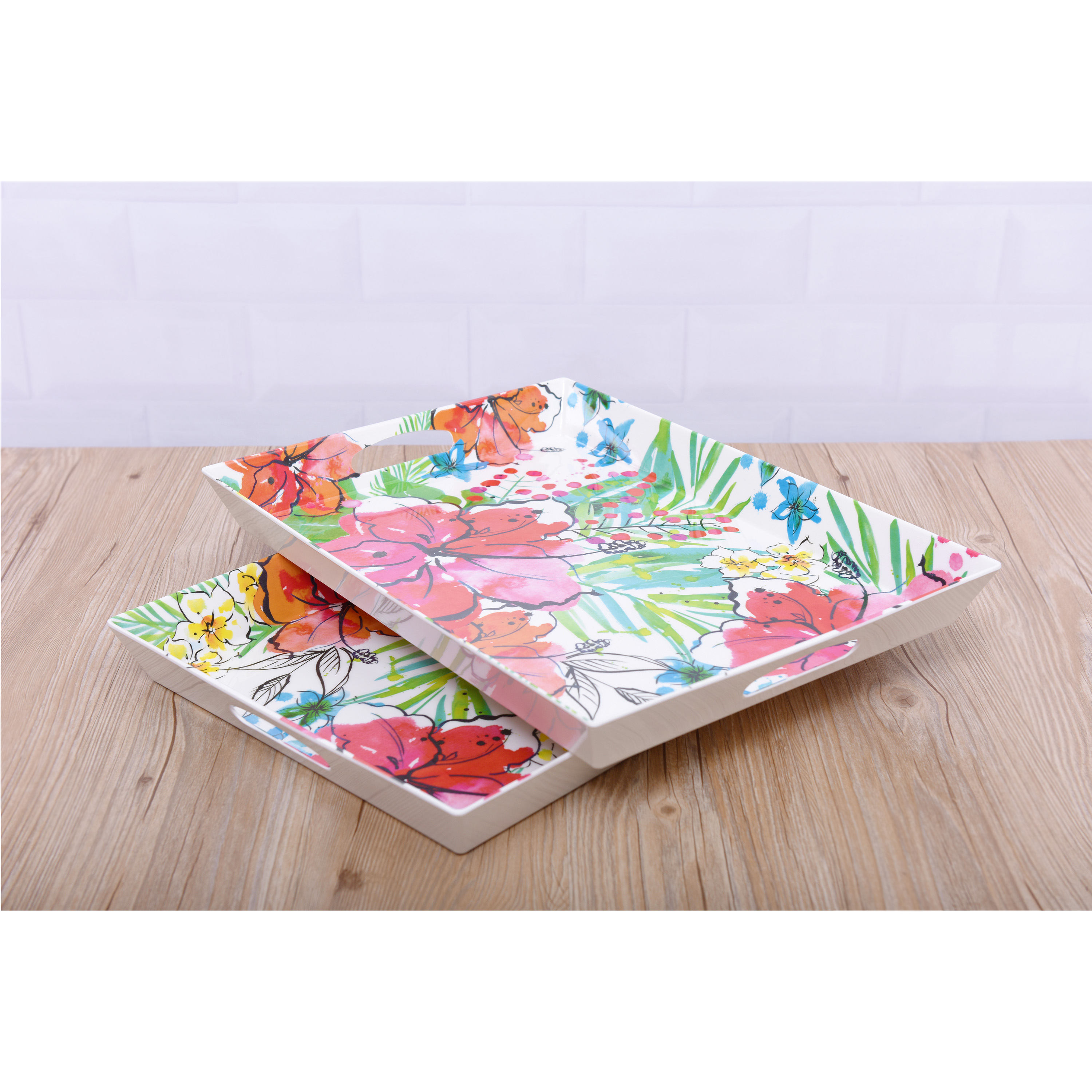 Mainstays Tropical Serve Tray, 2 Pack