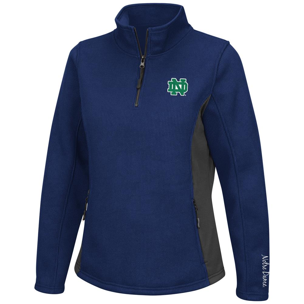 Ladies High Bar Notre Dame Fighting Irish Quarter Zip Jacket by Colosseum