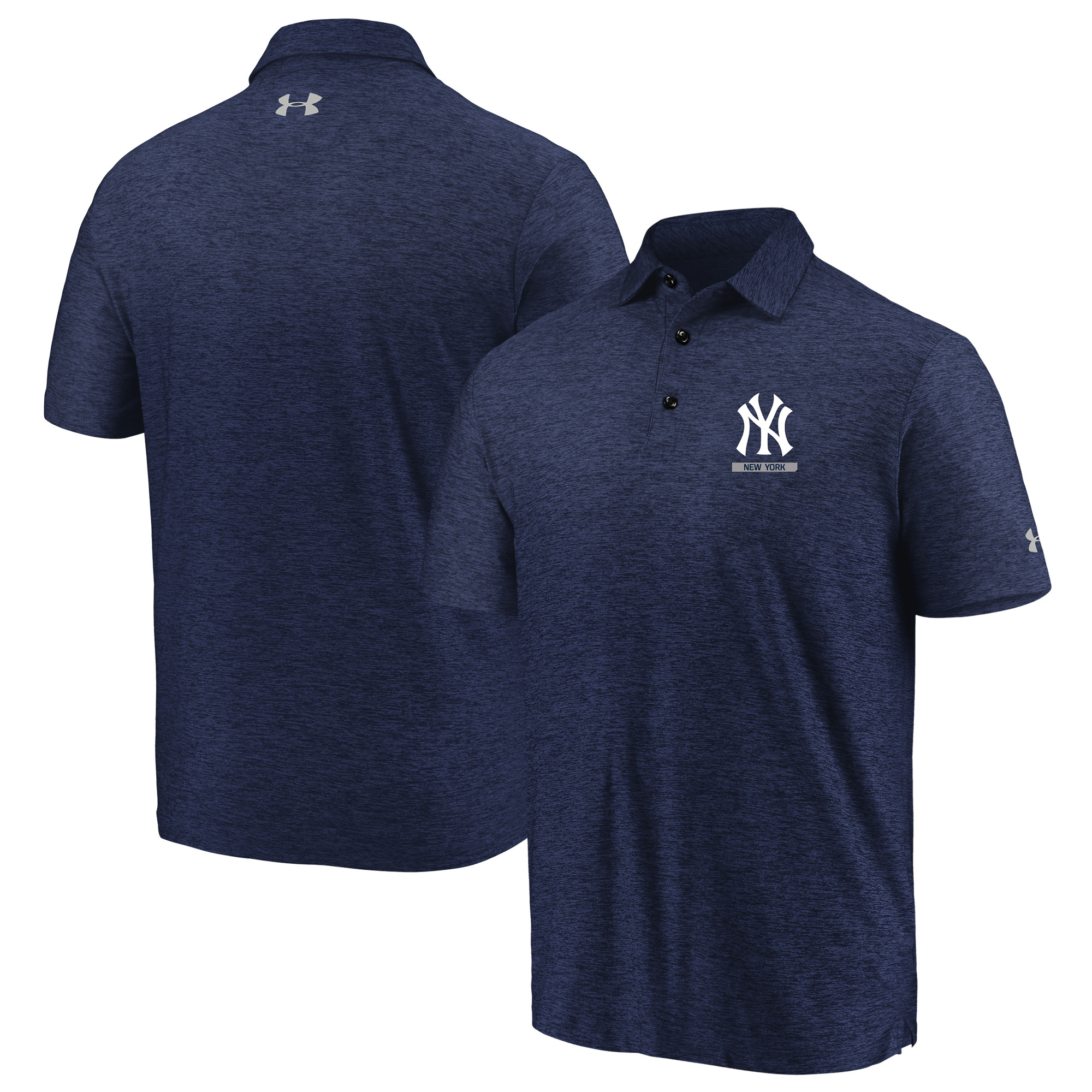 New York Yankees Under Armour City Underline Polo - Navy