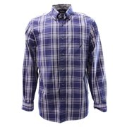 Nautica NEW Blue Mens Medium M Button-Front Plaid Pocket Classic Shirt $69 #240