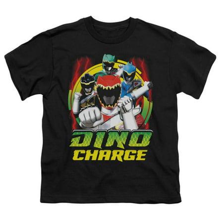 Power Rangers Men's  Dino Lightning T-shirt Black