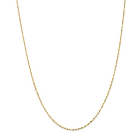 Roy Rose Jewelry 14K Yellow Gold 1.10mm Singapore Chain Necklace ~ Length 14'' inches