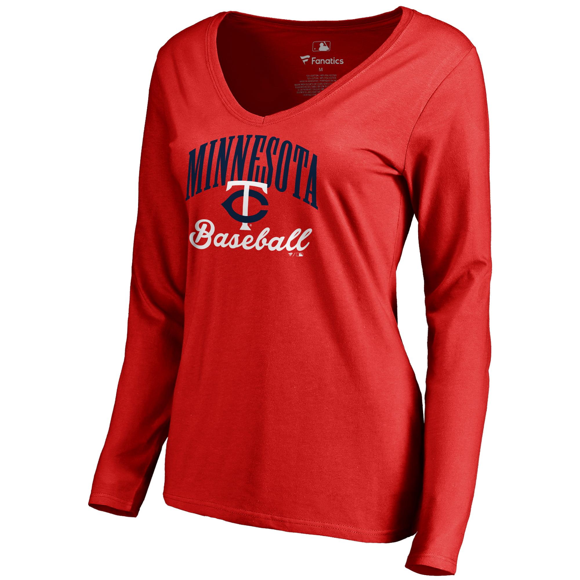 Minnesota Twins Women's Victory Script Long Sleeve T-Shirt - Red