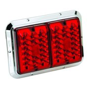 Bargman 47-85-611 Trailer Light; Surface Mount; Double; For 84/85 Series; Red/Red; Chrome Base;