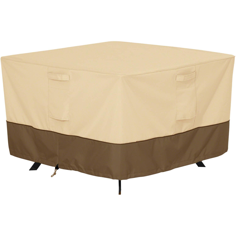 Classic Accessories Veranda Square Patio Table Furniture Storage Cover, Pebble by Classic Accessories