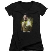 Star Trek Beyond Sulu Poster Juniors V-Neck Shirt