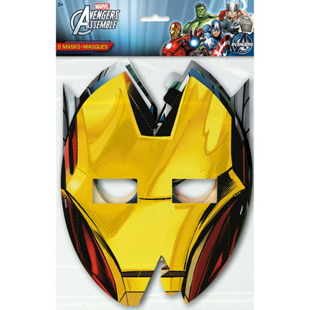 Avengers Party Ideas (Avengers Party Masks, 8ct)