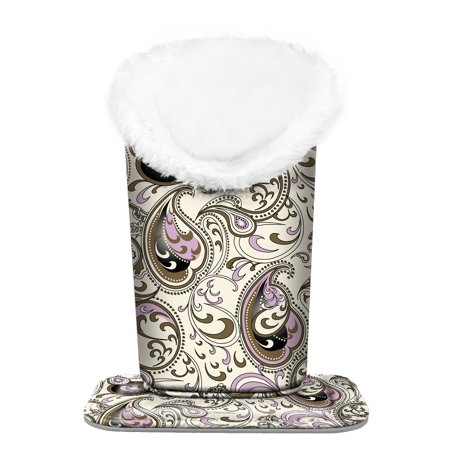 (Fintie Plush Lined Eyeglasses Holder - PU Leather Protective Eyeglass Holder Stand Case, Paisley Waves)
