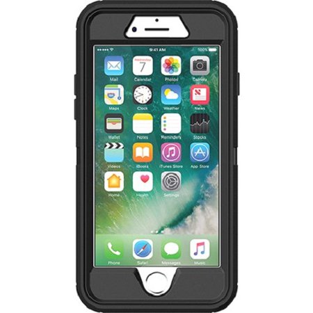 (OtterBox Defender Series Case for iPhone 8 & iPhone 7, Black)
