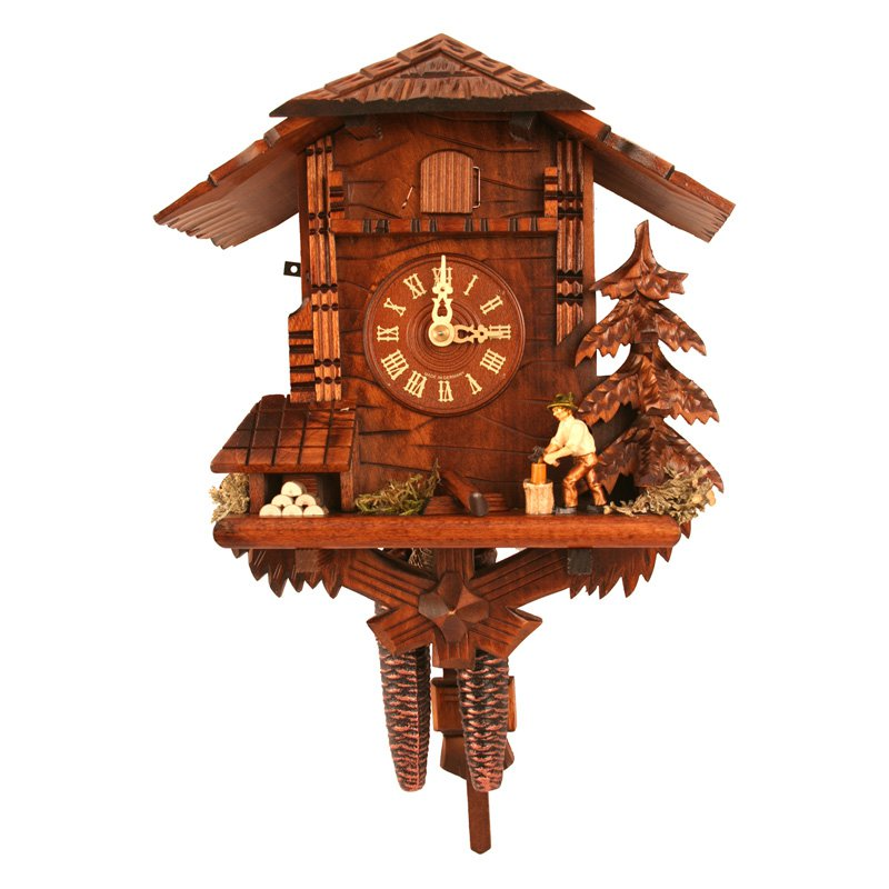 Black Forest Woodcutter 9.75 Inch Wide Cuckoo Clock by Black Forest