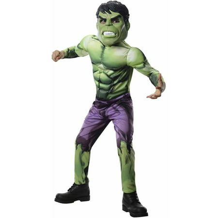 Avengers Assemble Deluxe Hulk Boys' Child Halloween Costume (Boys In Halloween Costumes)