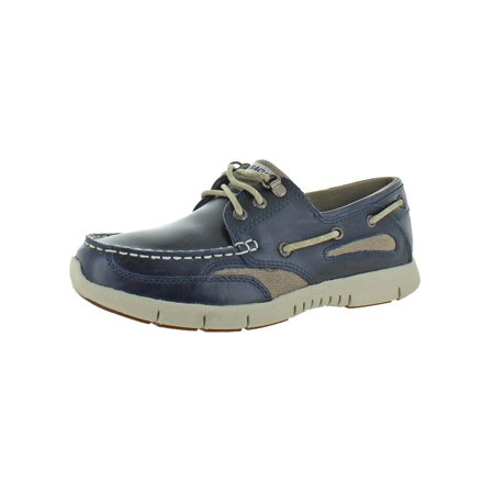 Sebago Mens Clovehitch Leather EVA Boat Shoes ()