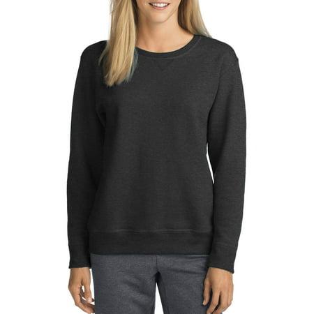 Hanes Women's Athleisure V-Notch Pullover Fleece Sweatshirt (White Hollister Sweatshirt)