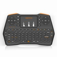 TSV 2.4GHz Wireless Keyboard with Touchpad Mouse Remote Control for Android Smart TV BOX HTPC PC Xbox One Controller-Black